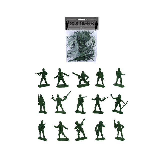 50 x Plastic Combat Platoon Army Soldiers Pack Boys Toy