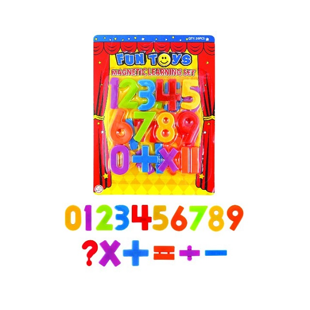 Magnetic Numbers Childrens Kids Maths Learning Magnets Fridge Whiteboard