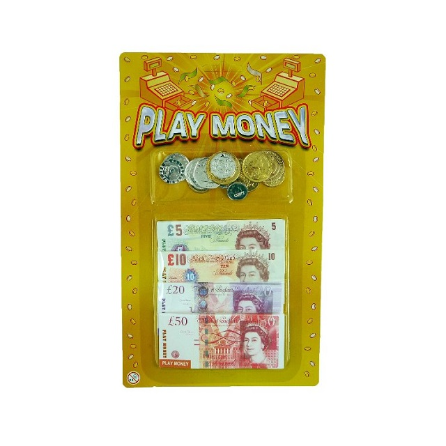 Childrens Kids Toy Shop Game Play Money Pound Notes & Coins