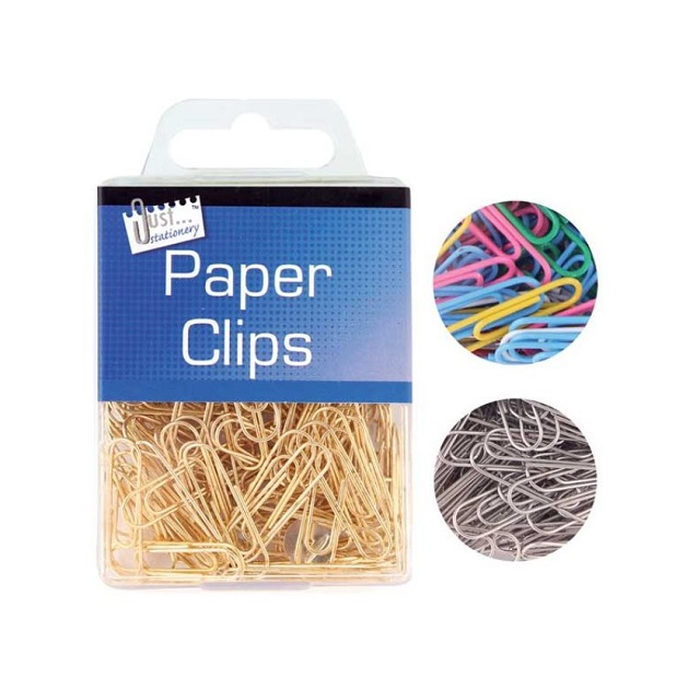 Home Office Multicoloured, Silver or Brass Paper Clips x 120