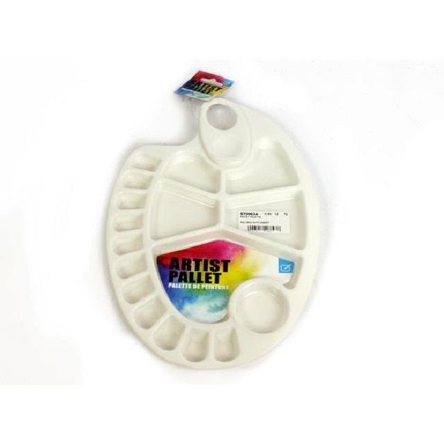 Artist Kidney Shape Pallet Paint Palette Plastic Thumb Hole Art & Craft Supplies