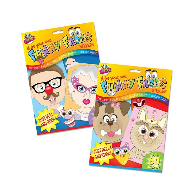 Children Kids Make Your Own Funny Faces Or Pets Stickers Fun Toy Party Bag Gift