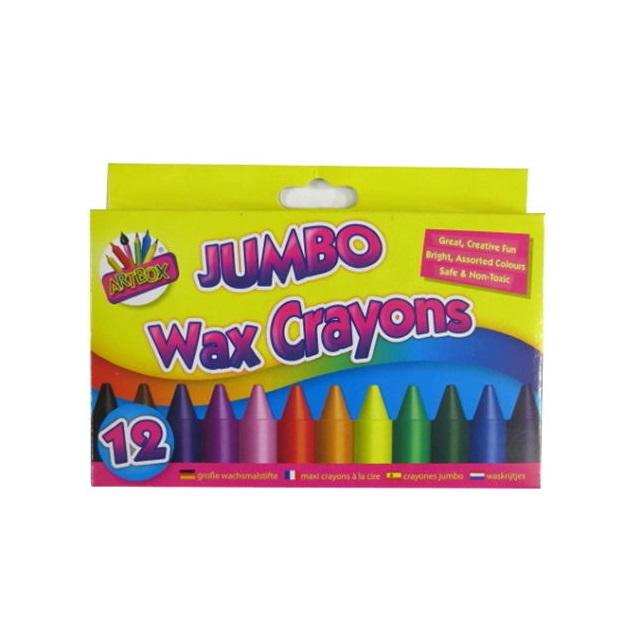 Children Kids 12 x Jumbo Wax Crayons Art Craft Birthday Party Loot Bag Fillers