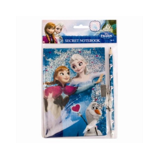 Disney Frozen Secret Notebook Lockable Lock & Key + Pencil Party Loot Bag Filler