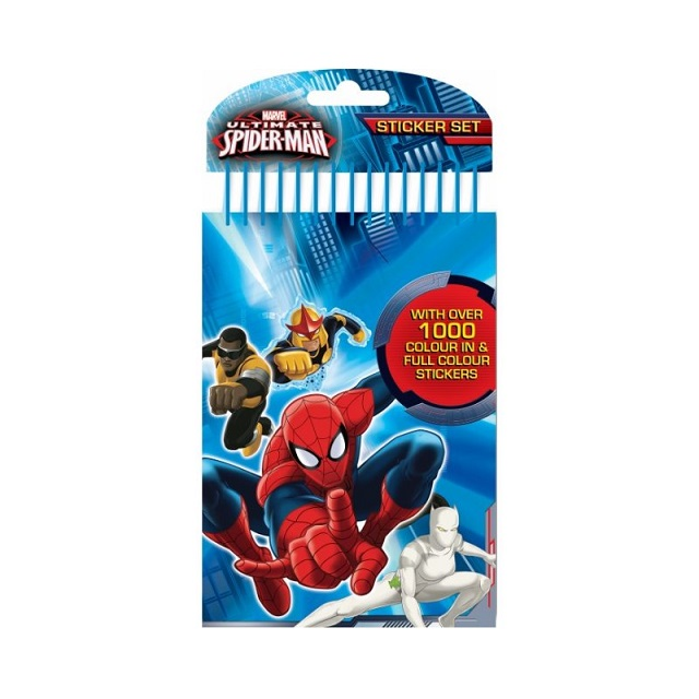 Spiderman Colour Your Own Art Set with 1000 Stickers & Pens Party Loot Bag Gift