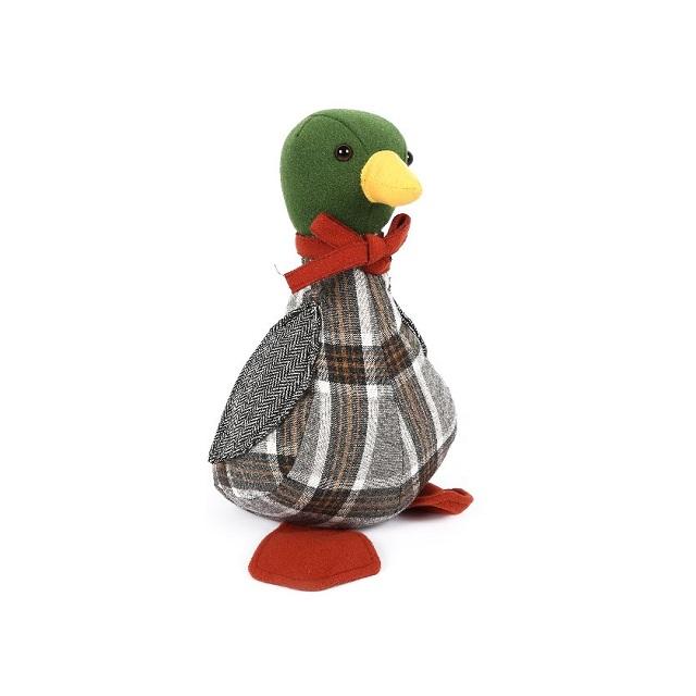 Fabric Duck Door Stop Mallard Duck Doorstop 28cm Tweed Country Farmer Style