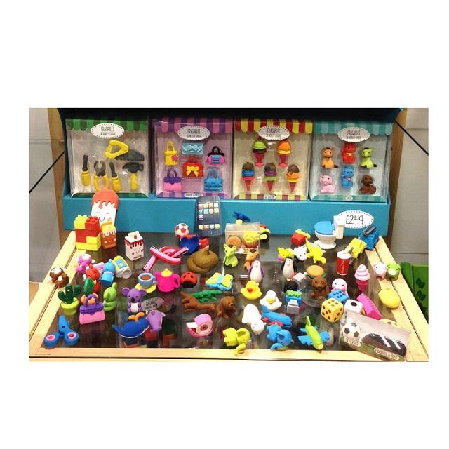 3D Novelty Fun Erasers Rubber Sets - Assorted Designs