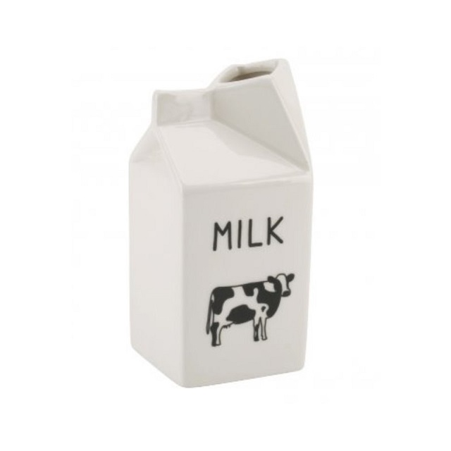 Novelty White Jug Moo Milk Carton Design Jug Ceramic Novelty Design