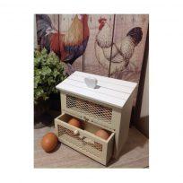 Country Cream Shabby Chic Wooden Egg House Storage Holder Kitchen
