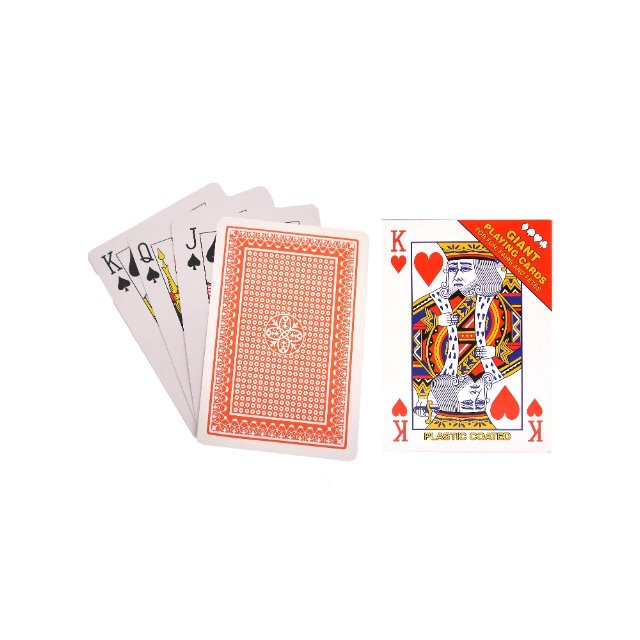 Giant Novelty Playing Cards Ideal For Fun Fairs and Fetes 17cm x 12cm