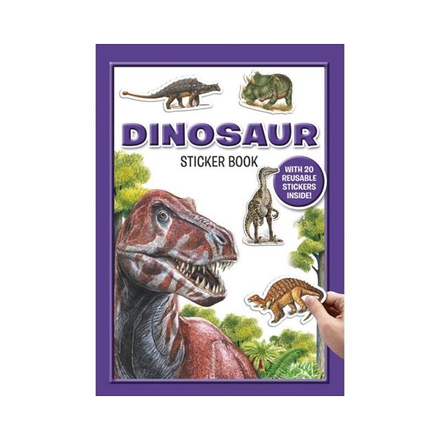 Dinosaurs Reusable Sticker Book & Facts Book