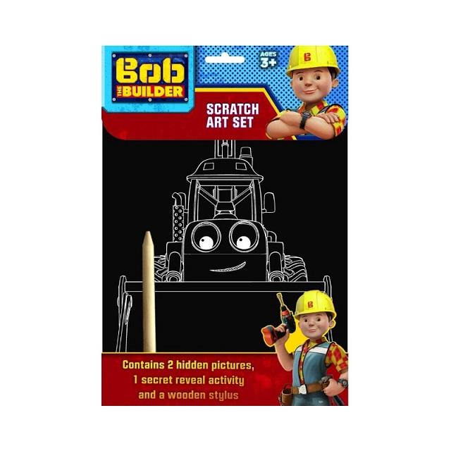 Bob The Builder Scratch Art Set Hidden Pictures & Secret Reveal Activity Party Bag Gift