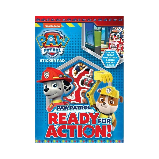 Nickelodeon Paw Patrol Sticker Pad Childrens Activity Stickers Party Favour Kids