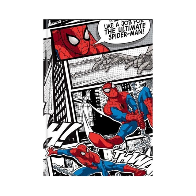 Marvel Spiderman A5 Notebook Notepad Journal School Stationery Classic Retro Design