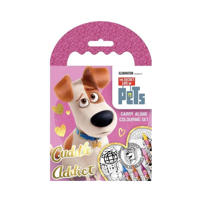 The Secret Life of Pets Carry Along Colouring Pad Party Favour Activity Set Kids