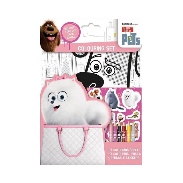 The Secret Life Of Pets Colouring Set & Stickers Children's Party Bag Stocking Filler Gift