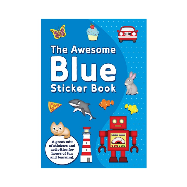 The Awesome Blue Sticker Book & Stickers Party Favour Activity Set Kids