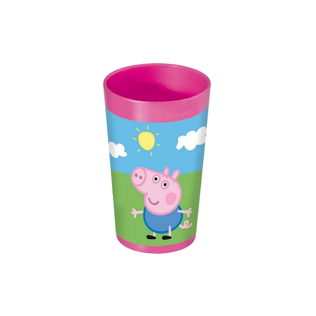 Peppa Pig Childrens Kids Plastic Tumbler Cup Pink Water Drink Parties Gift
