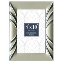 Contemporary Silver Metal Frames With Pattern In 3 Sizes 4x6 5x7 8x10