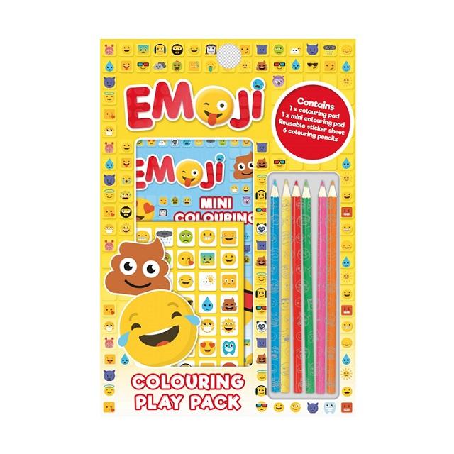 Super Fun Emojis Colouring Pack Stickers Pencils Creative Fun