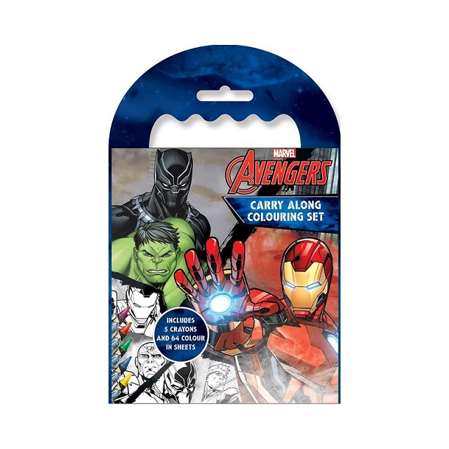 Marvel Classic Avengers Carry Along Colouring Set - Iron Man Captain America Hulk Thor & More