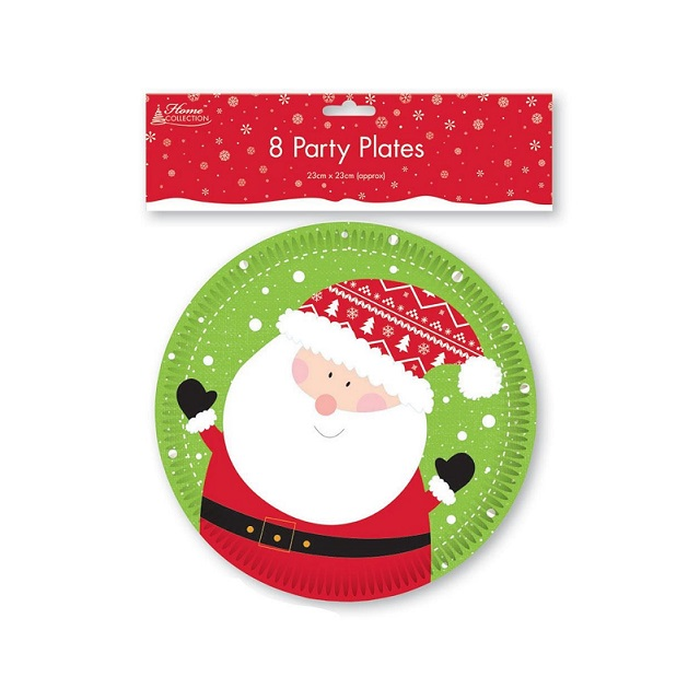 Kids Christmas Party Tableware Napkins Plates Table Cover Xmas Santa