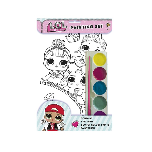 LOL Surprise Painting Set With Brush Paints & 8 Pictures To Paint