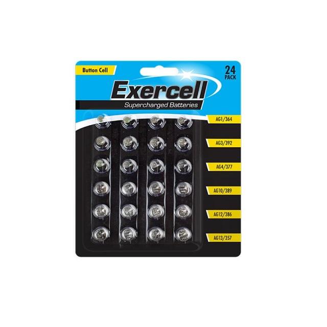 24 Pack Button Cell Batteries AG1 AG3 AG4 AG10