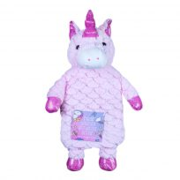 Hot Water Bottle Unicorn Plush Super Soft Cover Premium Natural Rubber 1 Litre Hot Water Bag