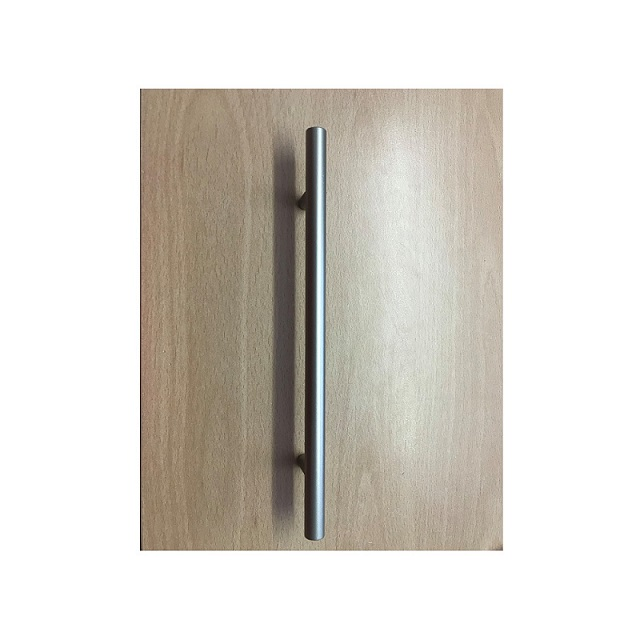 Lightweight Plastic Silver / Grey T Bar Cupboard Door Handle 230mm