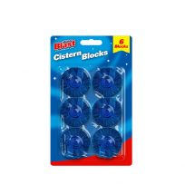 Set Of 6 Toilet Cistern Blocks Blue Clean And Freshens