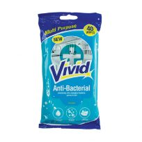 Pack Of 40 Anti-Bacterial Multi Surface Cleaning Wipes