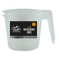 2 Pack Of Measuring Jugs 1 Litre each Plastic kitchen Essential Gravy, Baking