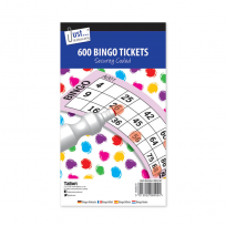 Bingo Tickets - 100 pages 600 Tickets Family Games And Fun
