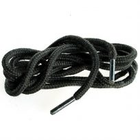 2 Pairs Of Round Black 75cm Boot And Shoe Laces 4mm Thickness