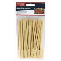 Bamboo Skewers 50 Pack 15cm For BBQ Grill Kebabs Koftas Satay