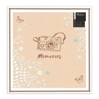Large Beautiful Golden Memories Design Photo Album Holds 500 6x4 Photos