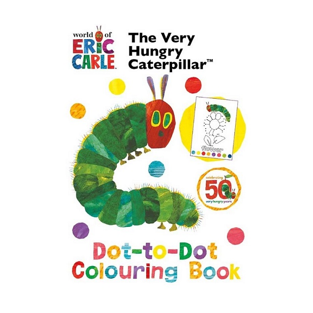 The Very Hungry Caterpillar Dot to Dot Colouring Book By Eric Carle Fun Activity's