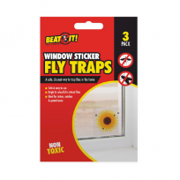 Flower Design Window Sticker Fly Traps - 3 Pack Non Toxic Safe Use