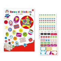 10 A4 Sheets Reward Sticker Pad, Assorted, Over 1000 Stickers Childrens Kids Motivation