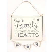 A Beautiful Family Hanging Wall Sign / Plaque Designed For The Home