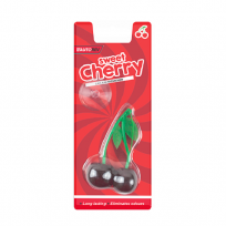 2 x Sweet Cherry Perfume Gel Car Air Fresheners 3D Hanging Eliminates Odours