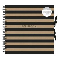 Striped Scrapbook Paper Large Photo Album Scrap Display Book 40 Sheets 80 Sides 25x25cm