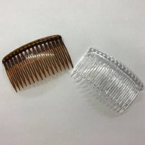 2 x Hair Side Combs 82mm With Grip Either Clear Or Brown Wedding Prom Fascinator