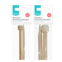 2 Packs Of Bamboo Knitting Needles One Each Of 6mm (size 4) and 10mm Size (000)