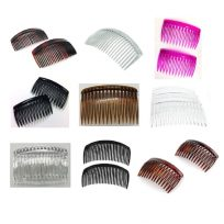 Hair Side Combs - Small Medium Large Clear Black Brown And Pink
