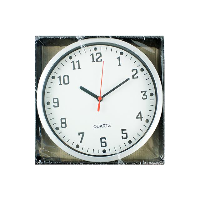 Quartz Silver Small Wall Clock Analogue Round Wall Clock Home Kitchen Bedroom