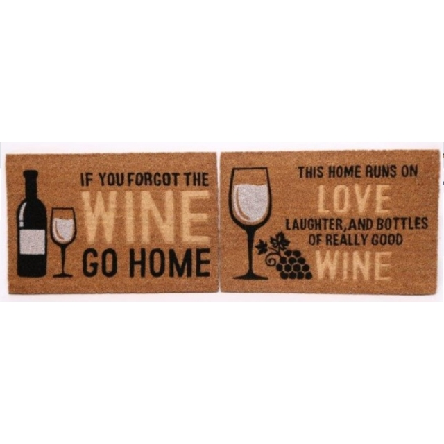 Heavy Duty Doormat Wine Themed Design 40 x 60cm