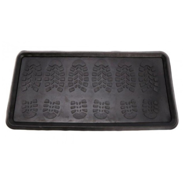 Heavy Duty Large Hardwearing Rubber Boot Tray 80 x 40 cm