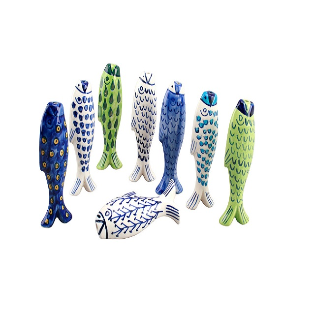 Assorted Ceramic Fish Design Light Pulls One Selected at Random Supplied